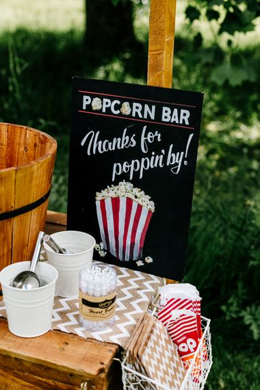 Wedding Popcorn Cart