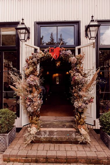 Gorgeous wedding flower arch way for entrance