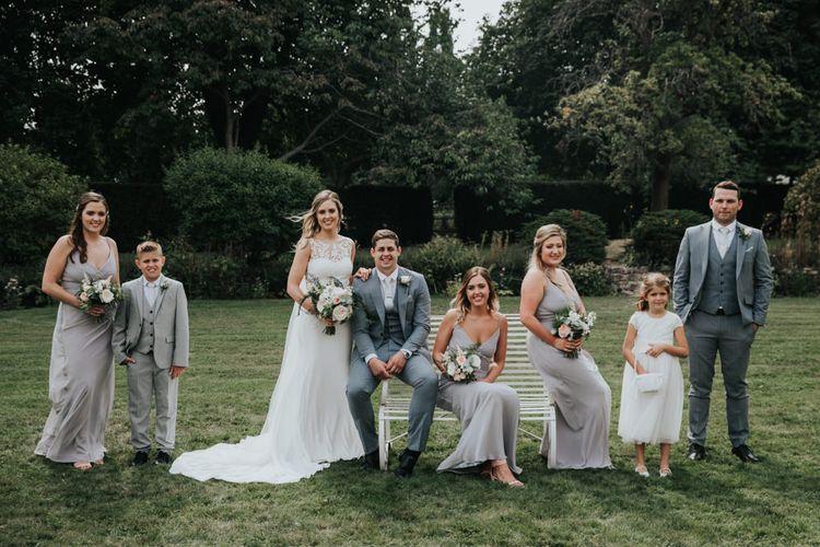 Wedding party portrait by Natalie J Weddings