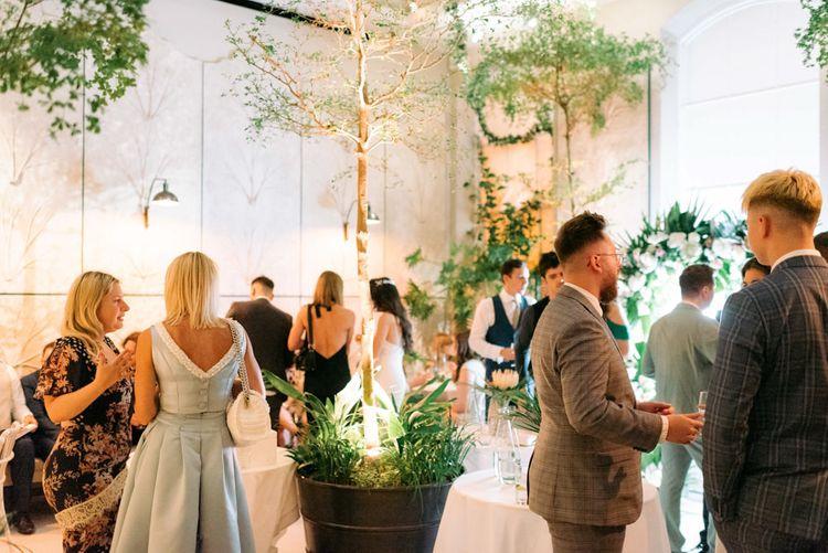 Black tie wedding at Somerset House