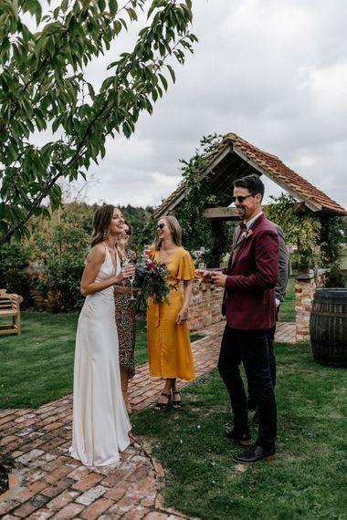 Outdoor wedding reception at 2020 wedding