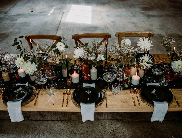 冬季婚礼的装饰