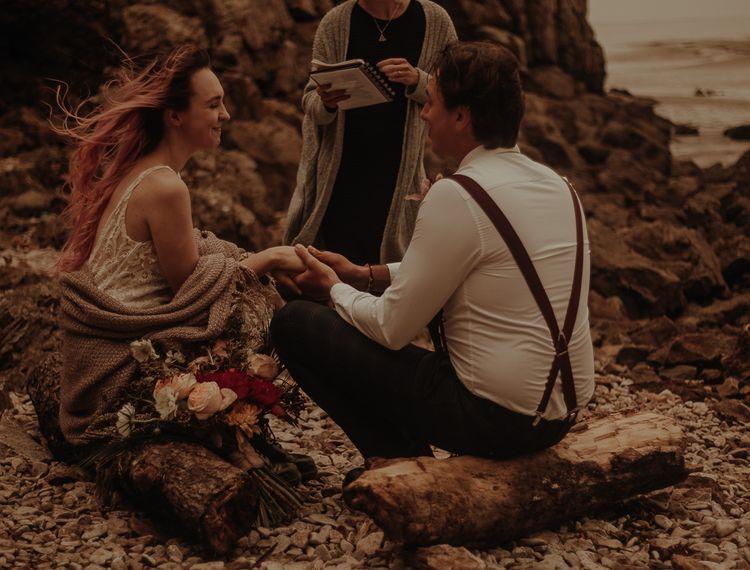 在亚利桑那州的婚礼上,《白色照片》的照片
