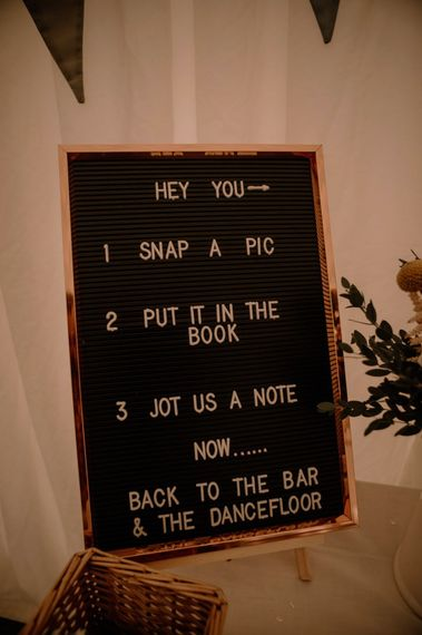 Peg board wedding decor