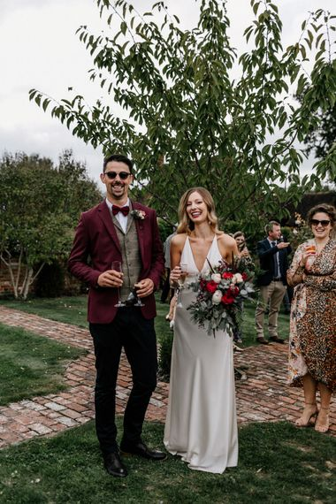 2020 micro wedding drink reception at High Billinghurst Farm
