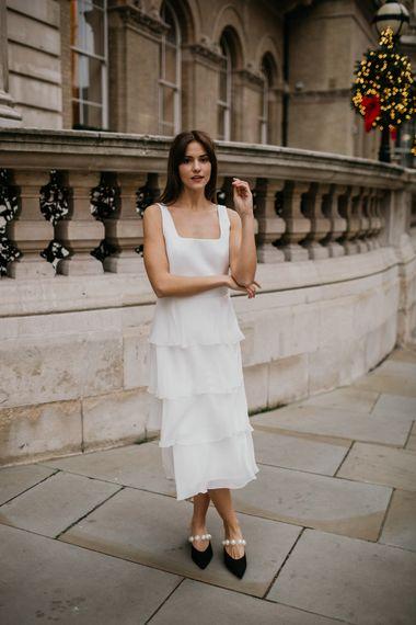 Layered midi dress by Story Of My Dress bridal