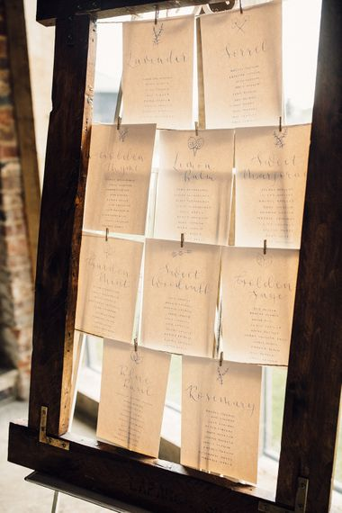 DIY table plan with frame and string
