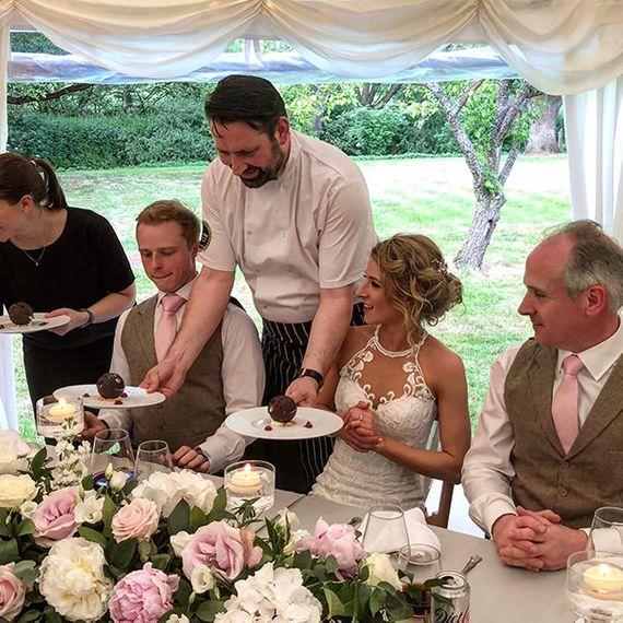 Exec Chef Jonathan Carter Morris with Bride Groom 1