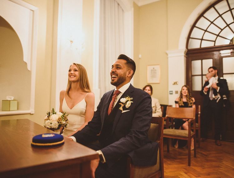 Intimate wedding with family at Chelsea Town Hall