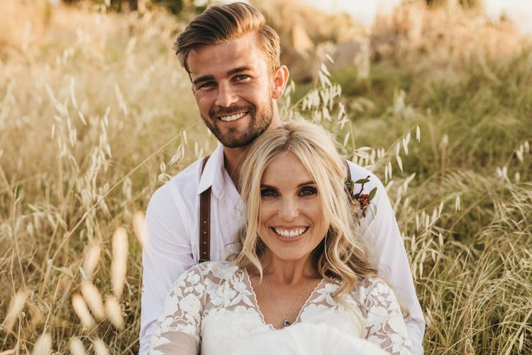 Bride and groom at South Africa wedding