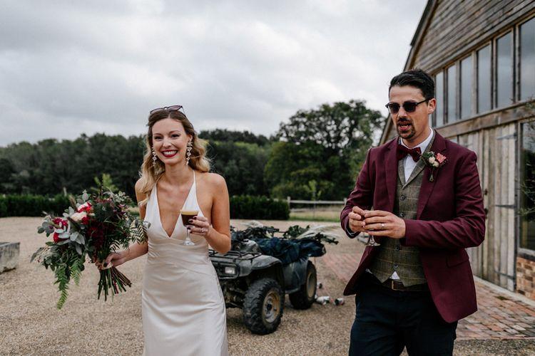 Micro wedding drinks reception at High Billinghurst Farm