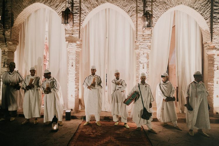 Moroccan wedding entertainers at Marrakech wedding