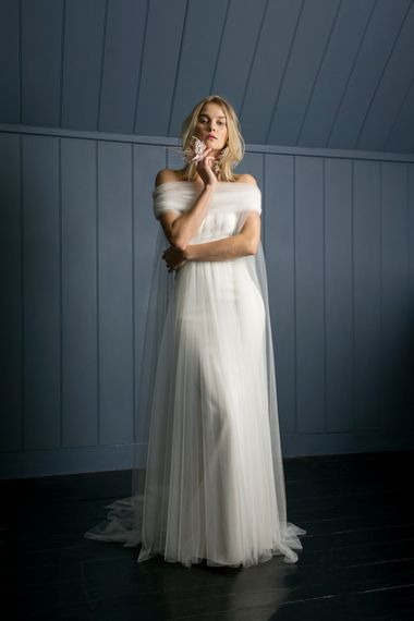 MANET CAPE LONG OLIVER DRESS1