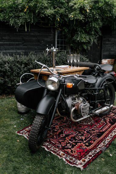 Motorcycle Prosecco bar