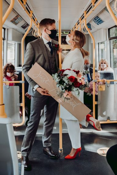 Using public transport to get to a wedding venue