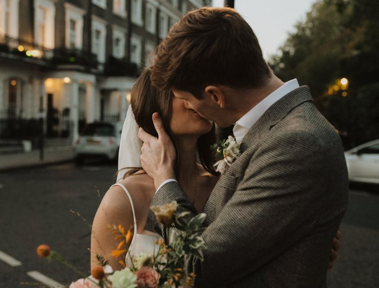 Intimate wedding portraits at dusk by Alba Turnbull Photography