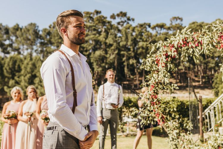 Groom sees bride at South Africa wedding