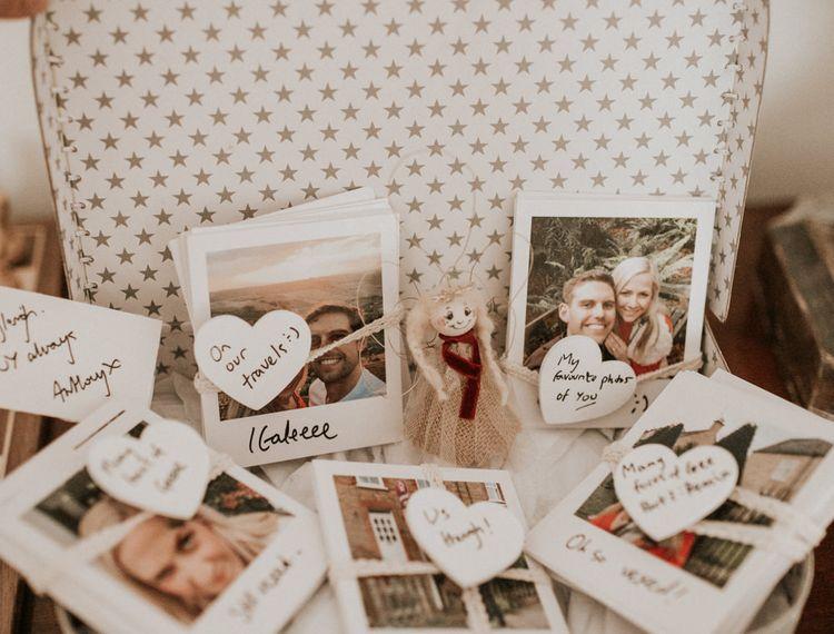 一盒白色的照片和经典的照片