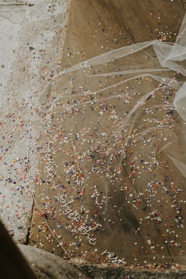 生物降解五彩纸屑刺绣婚礼花束