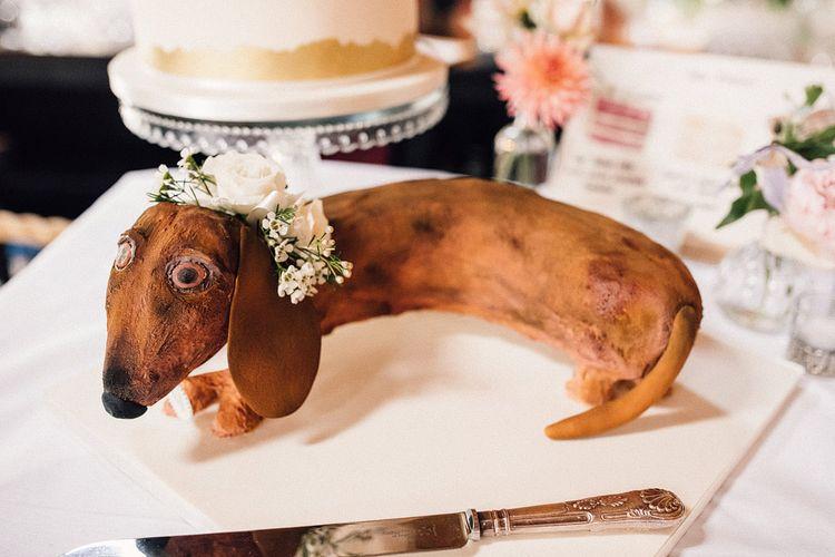 Sausage dog wedding cake