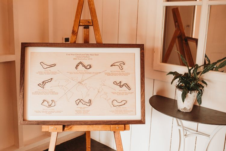 DIY Grand Prix track wedding table plan