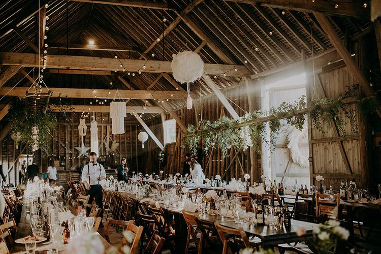 Barn wedding reception rustic wedding decor