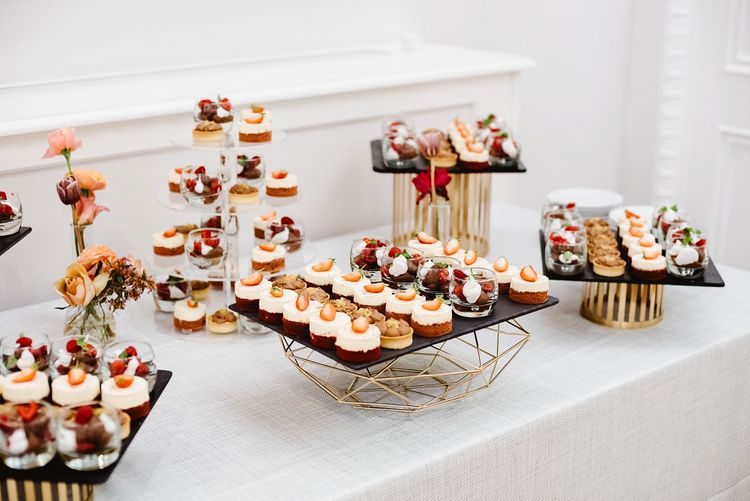 Dessert table at Carlton House Terrace wedding