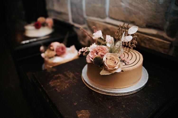 Dessert table at intimate Willow Marsh Farm wedding