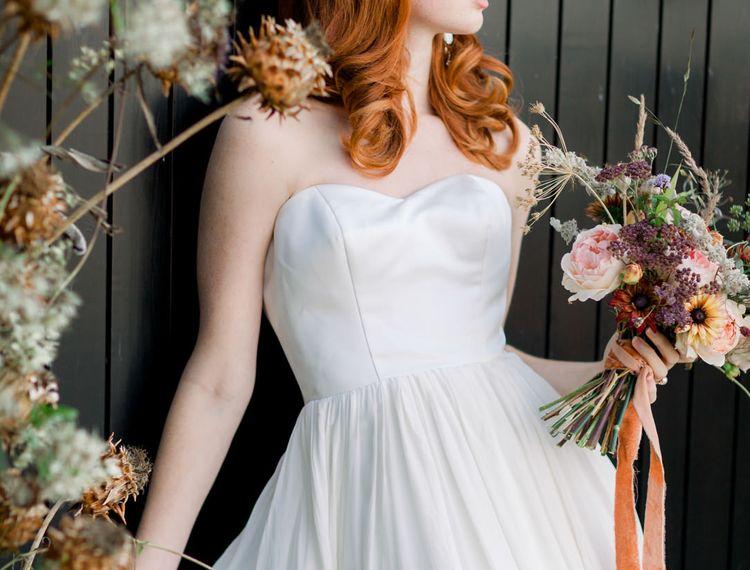 在婚礼上,婚礼的婚礼,穿着婚纱
