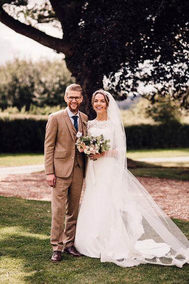 Bride and groom portrait by Samuel Docker Photography