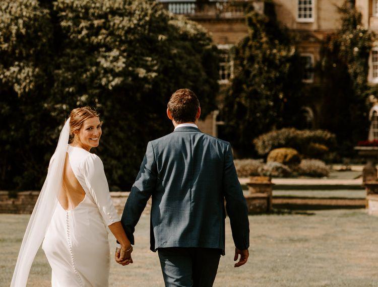 新郎和新郎的婚礼公园