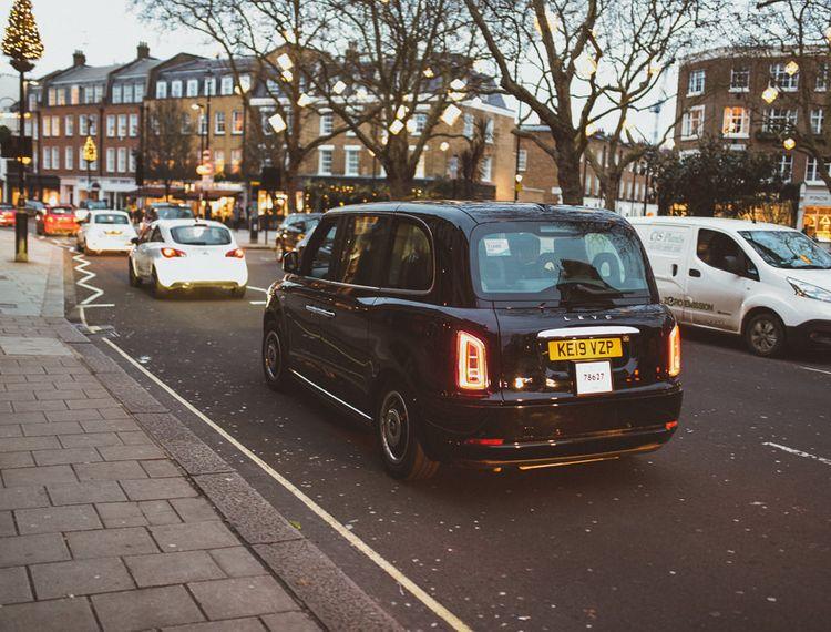 Black Cab for London City Wedding