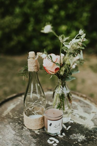 DIY wedding centrepiece for budget wedding