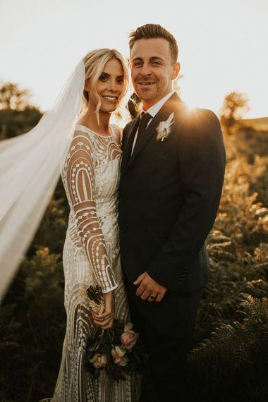 亲密的新娘和新郎画像劳拉迪恩摄影在黄金时刻188金宝博亚洲