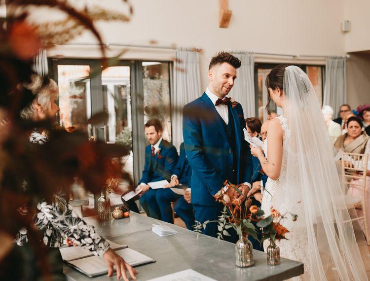 新郎和新娘婚礼上的婚礼