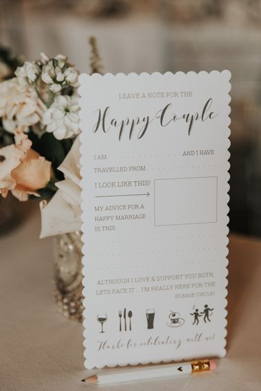 Leave a note for the happy couple