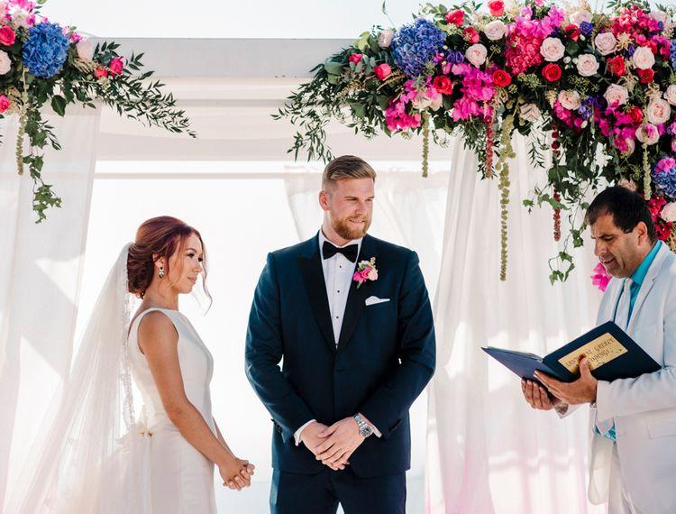 新郎和新郎婚礼上的婚礼仪式