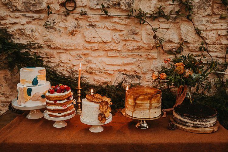 Dessert table at outdoor destination wedding