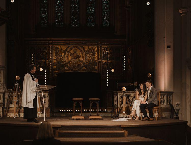 Holy Trinity Brompton Church wedding ceremony