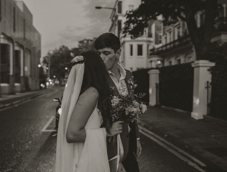 Black and white couples portrait by Alba Turnbull Photography
