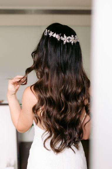 Unique wedding star tiara