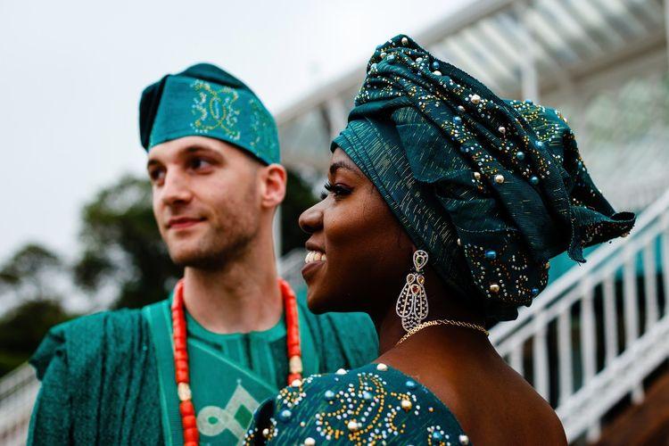 Wedding jewellery an headdress for Nigerian wedding in Liverpool