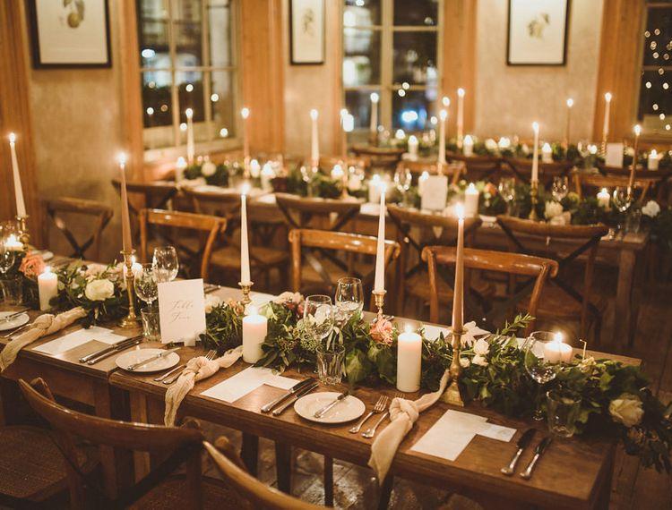 在橙色切尔西的婚礼tablecape