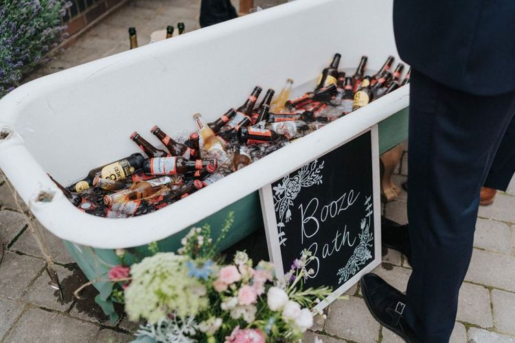 Beer bath for budget wedding