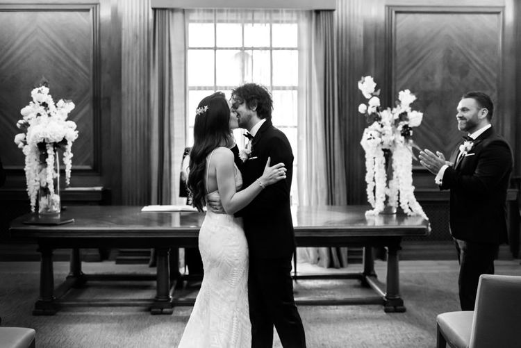 Black and white wedding photography by Nkima Photography