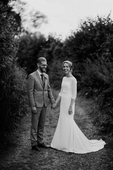 black and white bride and groom portrait by Samuel Docker Photography