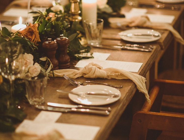 Rustic wedding  tablescaping inspiration for a winter wedding