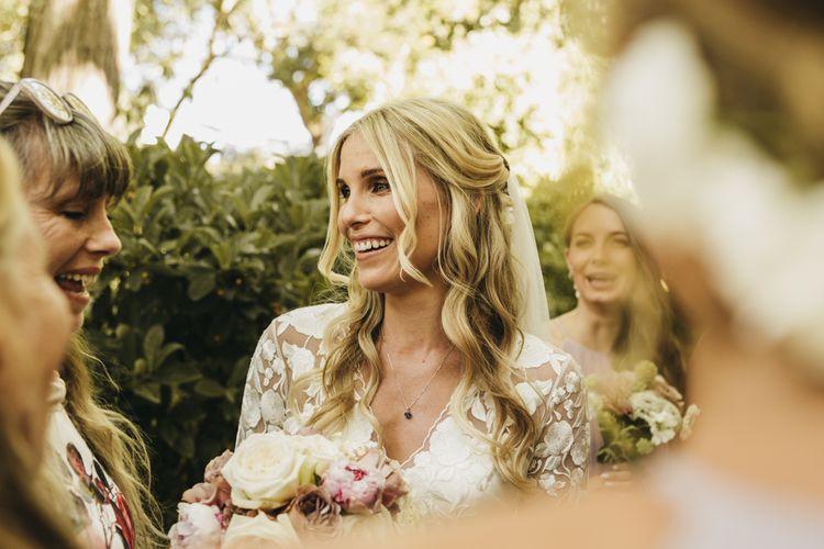 Beautiful bride at destination wedding