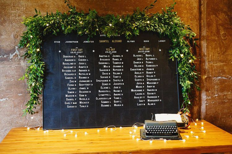 Peg board table plan for budget wedding