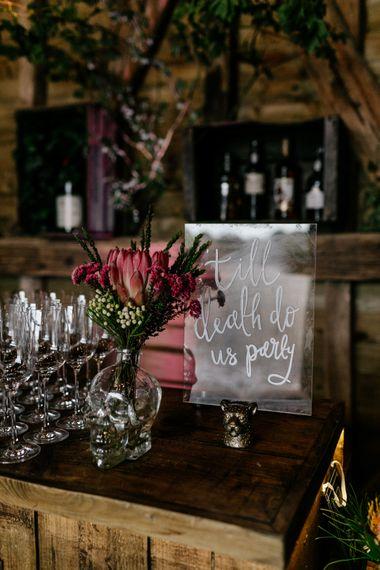 Till death do us party acrylic wedding sign